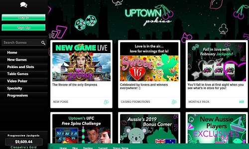 Uptown Pokies Casino Bonuses