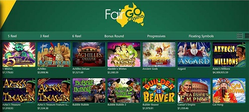 Fair Go Casino Pokies Games