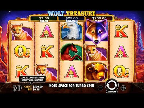 Wolf Treasure Pokies Australia